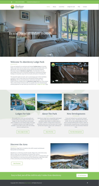 Web design for holiday home park