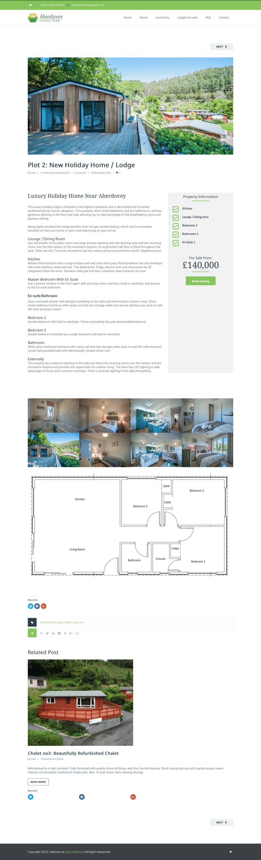 lodge for sale web design