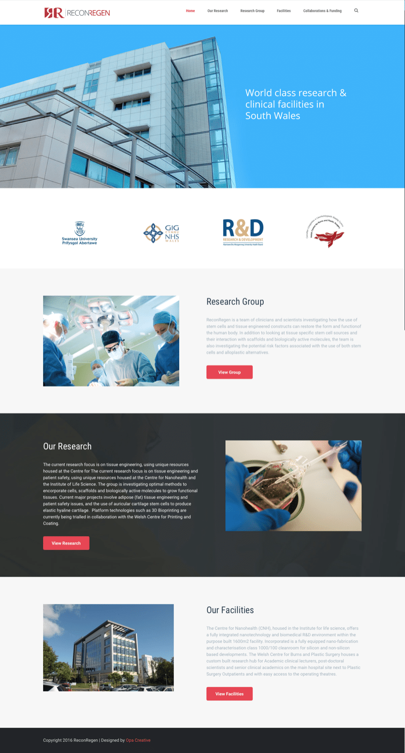 web design for NHS reseearch