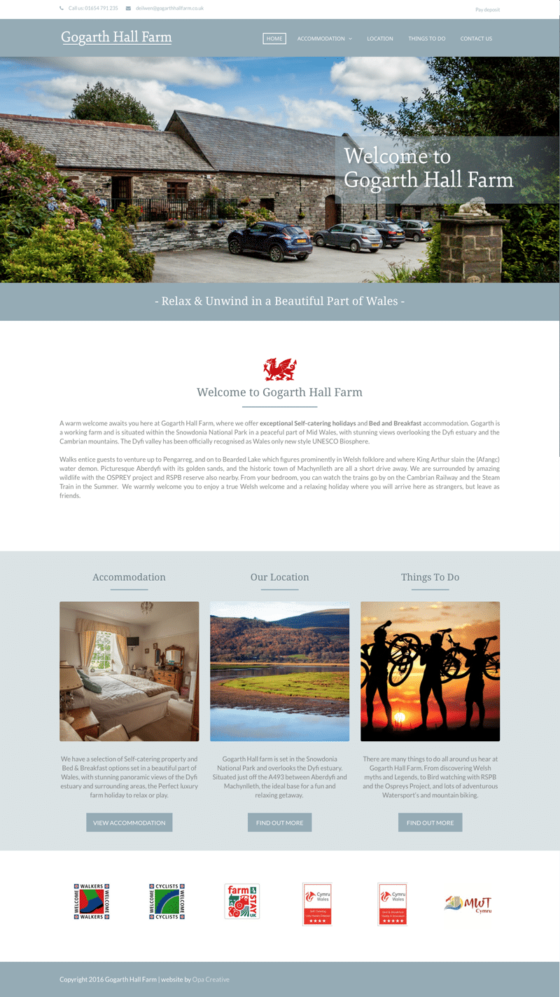 holiday letting web design